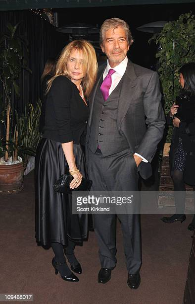 Actresses Rosanna Arquette and Todd Morgan arrive at the Chanel Charles Finch PreOscar Dinner Celebrating Fashion Film at Madeo Restaurant on...