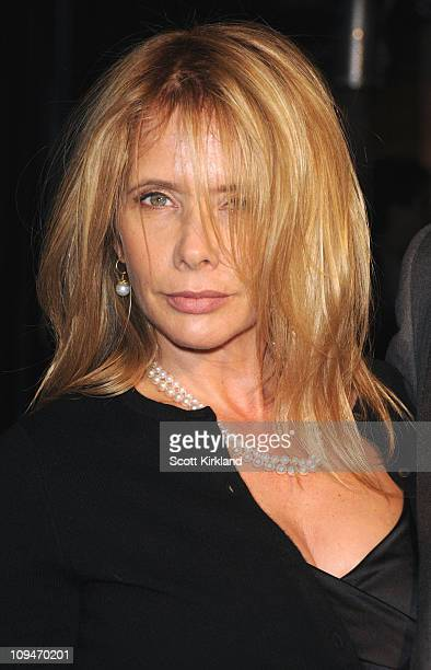 Actresses Rosanna Arquette arrives at the Chanel Charles Finch PreOscar Dinner Celebrating Fashion Film at Madeo Restaurant on February 26 2011 in...