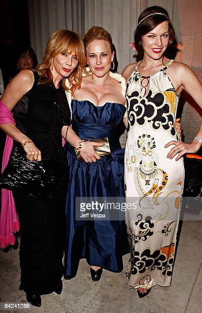 Actresses Rosanna Arquette, Patricia Arquette and Milla Jovovich attend The Art of Elysium 2nd Annual Heaven Gala held at Vibiana on January 10, 2009...