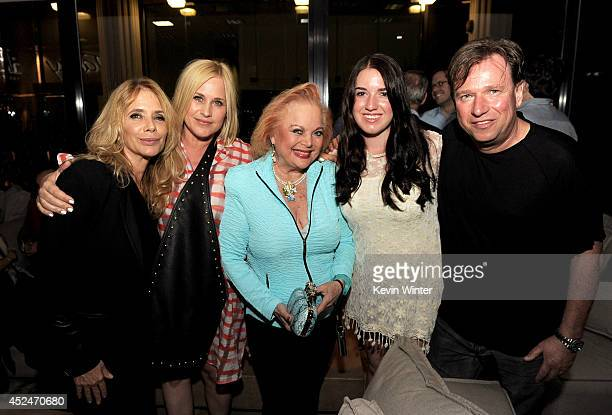 Actresses Rosanna Arquette Patricia Arquette songwriter Carol Connors Cheyenne Skye Falz and Jay Falz COO RUNWAY pose at the after party for a...