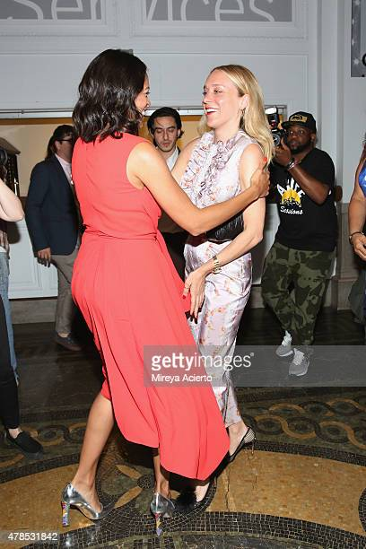 Actresses Rosario Dawson and Chloe Sevigny attend the Kids 20th Anniversary Screening during BAMcinemaFest 2015 at BAM Peter Jay Sharp Building on...