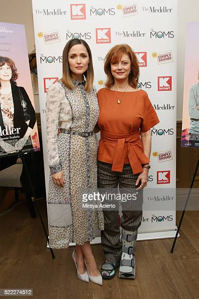 """Actresses Rose Byrne and Susan Sarandon attend Mamarazzi Screening of """"The Meddler"""" at Crosby Street Theater on April 18, 2016 in New York City."""