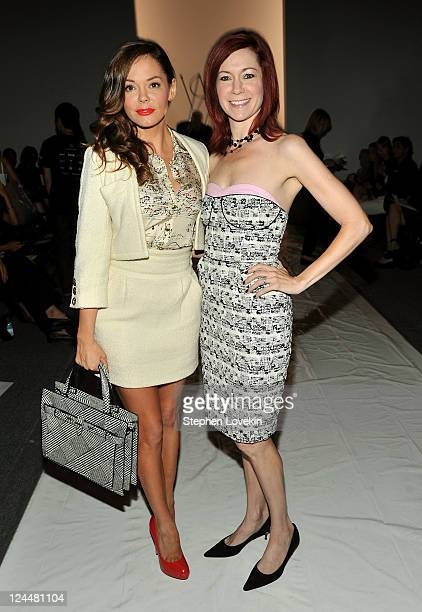 Actresses Rose McGowan and Carrie Preston attend the Ruffian Spring 2012 fashion show during MercedesBenz Fashion Week at The Studio at Lincoln...