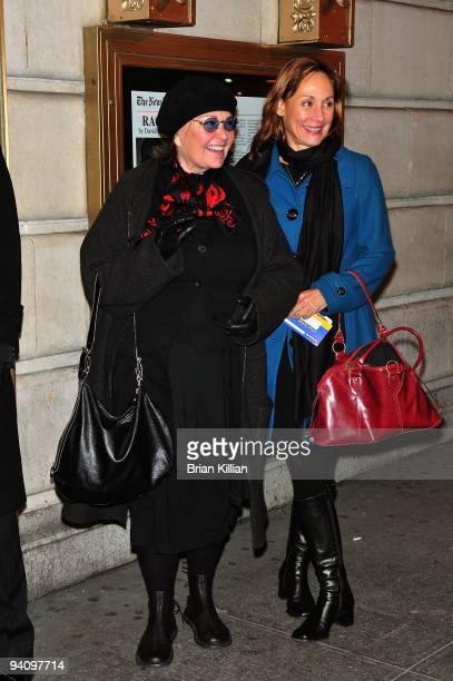 Actresses Roseanne Barr and Laurie Metcalf attend the Broadway opening night of 'Race' at The Ethel Barrymore Theatre on December 6 2009 in New York...
