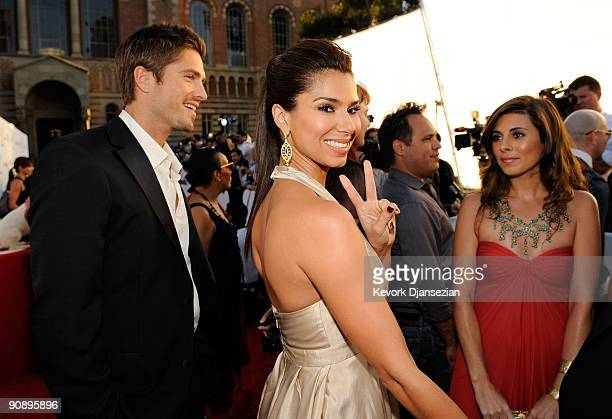 Actresses Roselyn Sanchez and JamieLynn Sigler arrive at the 2009 ALMA Awards held at Royce Hall on September 17 2009 in Los Angeles California