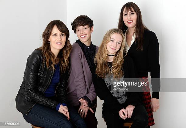 Actresses Rosemarie DeWitt Olivia Thirlby India Ennenga and writer/director Ry RussoYoung pose for a portrait during the 2012 Sundance Film Festival...