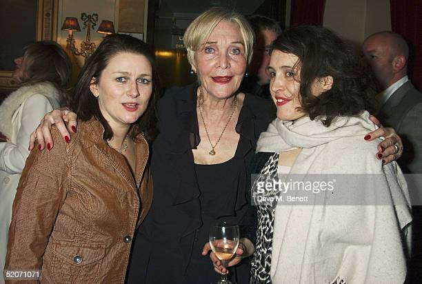 """Actresses Rosie Cavaliero, Sheila Hancock and Madeleine Worrall attend the aftershow party following the first night of Sheila Hancock's play """"The..."""