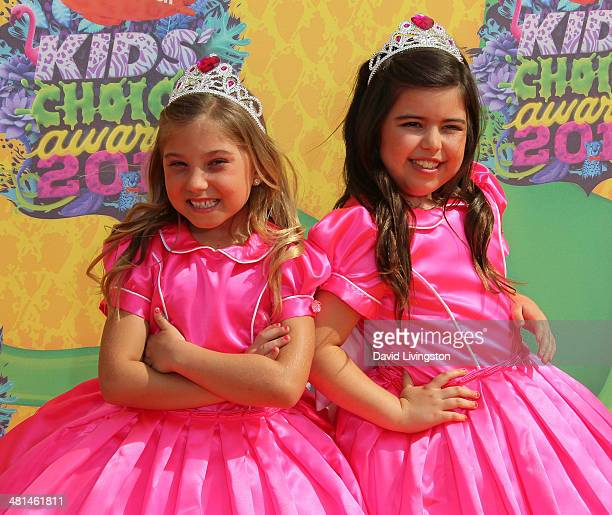 Actresses Rosie Mcclelland and Sophia Grace Brownlee attend Nickelodeon's 27th Annual Kids' Choice Awards at USC Galen Center on March 29 2014 in Los...
