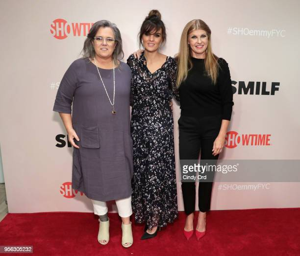 Actresses Rosie O'Donnell, Frankie Shaw and Connie Britton attend the Showtime Emmy FYC Screening Of SMILF at The Whitney Museum on May 8, 2018 in...
