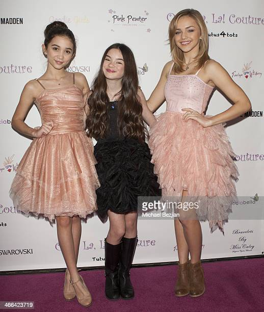 Actresses Rowan Blanchard Landry Bender and Oana Gregory attend Ooh La La Couture 5th Annual Tutus4Tots Charity Eventon February 1 2014 in Los...