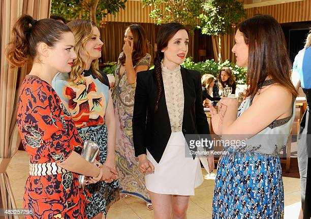 Actresses Roxane Mesquida Gillian Jacobs Zoe ListerJones and Creative Digital Director of Vogue Sally Singer attend Vogue Lunch In Celebration Of The...