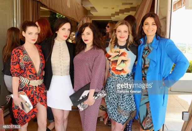 Actresses Roxane Mesquida Zoe ListerJones Rose McGowan Gillian Jacobs and Bellamy Young attend Vogue Lunch In Celebration Of The Etro Spring...