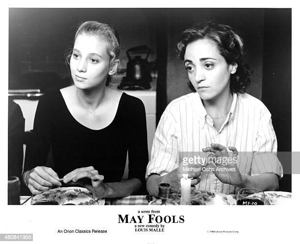 Actresses Rozenne Le Tallec and Dominique Blanc in a scene from the movie ' May Fools ' circa 1990