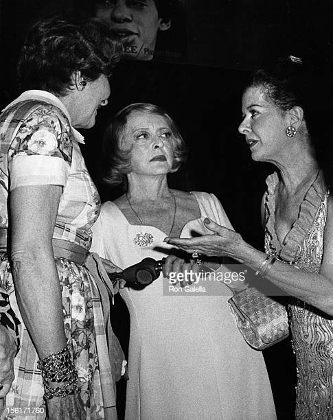 Actresses Ruby Keeler Bette Davis and Joan Bennett attend Fabulous Forties Benefit for Phoenix House on June 5 1972 in New York City