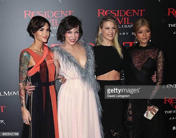 Wallpaper Milla Jovovich Ali Larter Ruby Rose Resident: モデル ローラ ストックフォトと画像