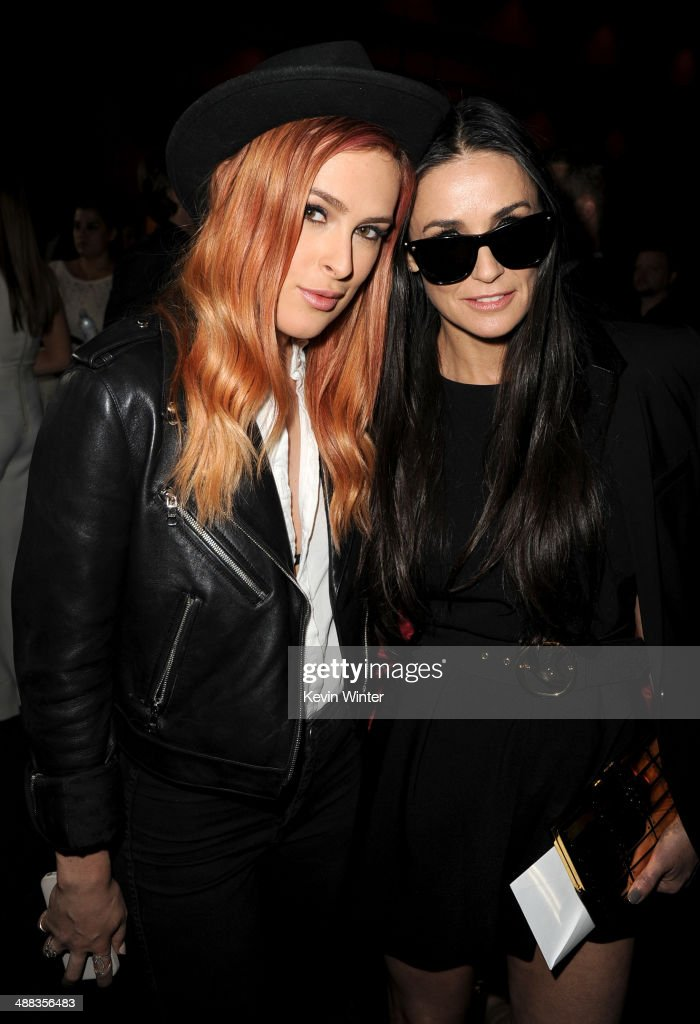 Actresses Rumer Willis (L) and Demi Moore attend the premiere of Tribeca Film's 'Palo Alto' at the Directors Guild of America on May 5, 2014 in Los Angeles, California.