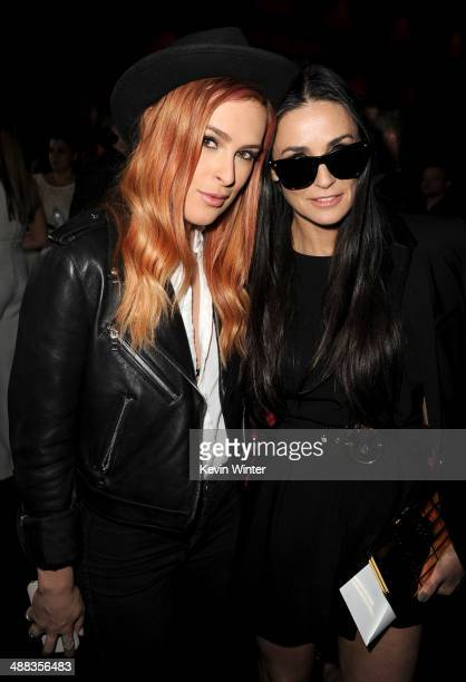 """Actresses Rumer Willis and Demi Moore attend the premiere of Tribeca Film's """"Palo Alto"""" at the Directors Guild of America on May 5, 2014 in Los..."""