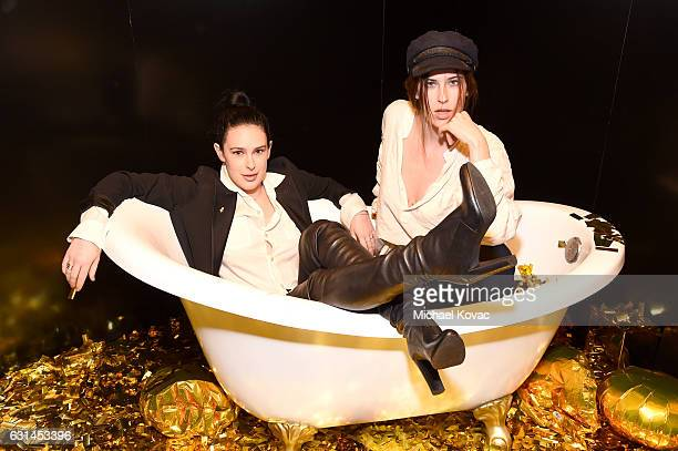 Actresses Rumer Willis and Scout LaRue Willis attend the YSL Beauty Club Party at the Ace Hotel on January 10 2017 in Downtown Los Angeles California