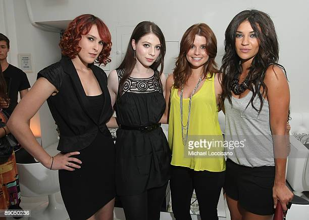 Actresses Rumer Willis Michelle Trachtenberg Joanna Garcia and Jessica Szohr attend the Charlotte Russe Fall 2009 launch event at Openhouse Gallery...