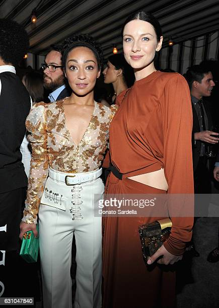 Actresses Ruth Negga and Caitriona Balfe attend W Magazine Celebrates the Best Performances Portfolio and the Golden Globes with Audi and Moet...