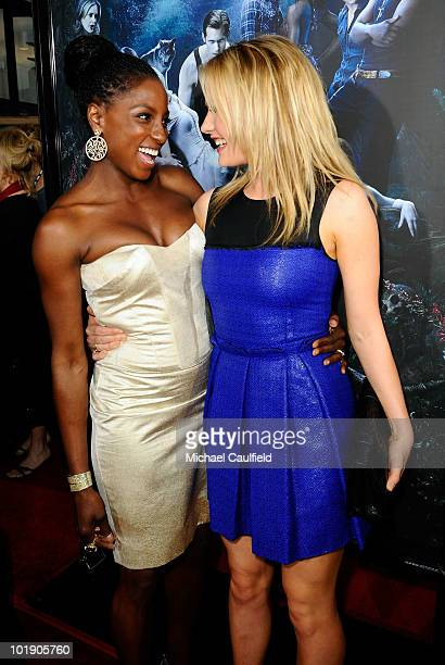 Actresses Rutina Wesley and Anna Paquin arrive at HBO's 'True Blood' Season 3 premiere held at the ArcLight Cinemas Cinerama Dome on June 8 2010 in...