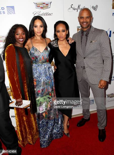 Actresses Rutina Wesley Bianca Lawson DawnLyen Gardner and actor Dondre Whitfield attend Ebony Magazine's Ebony's Power 100 Gala at The Beverly...