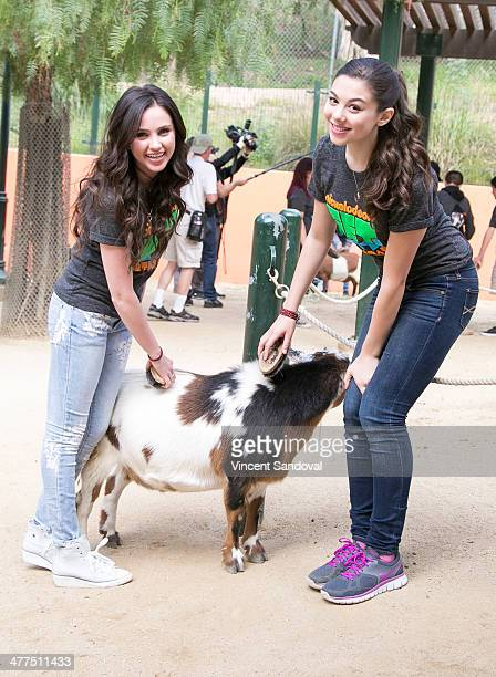 Actresses Ryan Newman and Kira Kosarin attend Nickelodeon partners Los Angeles Zoo and Botanical Gardens for a PreEarth Day event at Los Angeles Zoo...