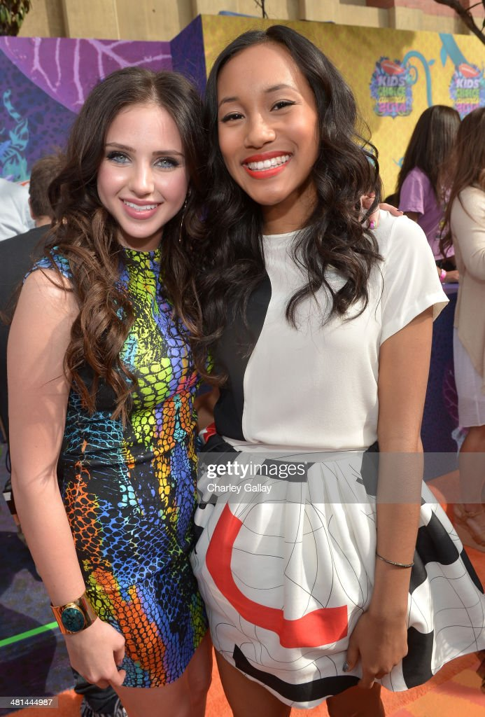 Actresses Ryan Newman (L) and Sydney Park (R) attend Nickelodeon's 27th Annual Kids' Choice Awards held at USC Galen Center on March 29, 2014 in Los Angeles, California.