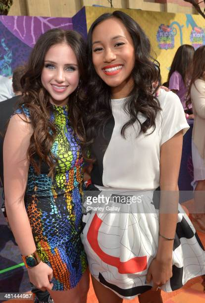 Actresses Ryan Newman and Sydney Park attend Nickelodeon's 27th Annual Kids' Choice Awards held at USC Galen Center on March 29 2014 in Los Angeles...