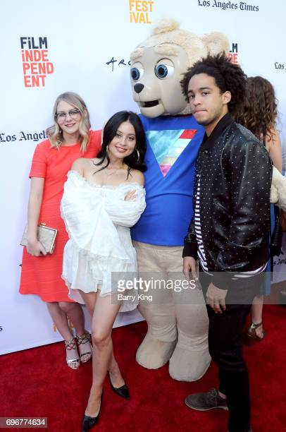 Actresses Ryan Simpkins Alexa Demie and actor Jorge Lendenborg attend the 2017 Los Angeles Film Festival Gala Screening Of Sony Pictures Classic's...