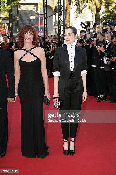 Actresses Sabine Azema and Amira Casar attend the premiere of Peindre ou Faire l'Amour in competition at the 58th Cannes Film Festival