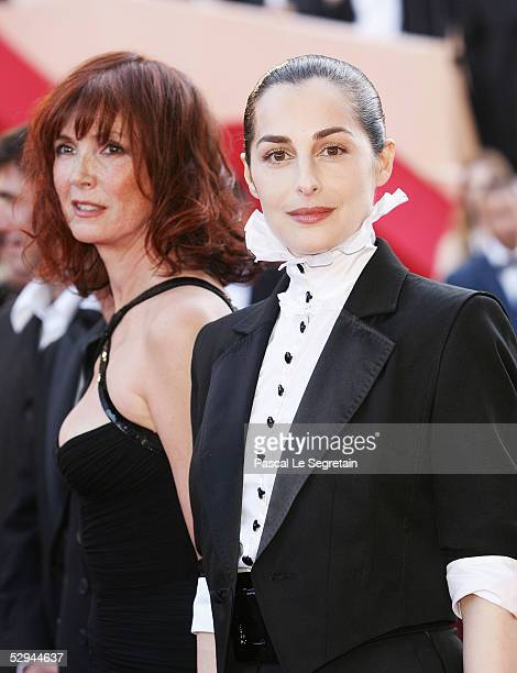 Actresses Sabine Azema and Amira Casar attend the screening of Peindre Ou Faire L'Amour at the Palais during the 58th International Cannes Film...