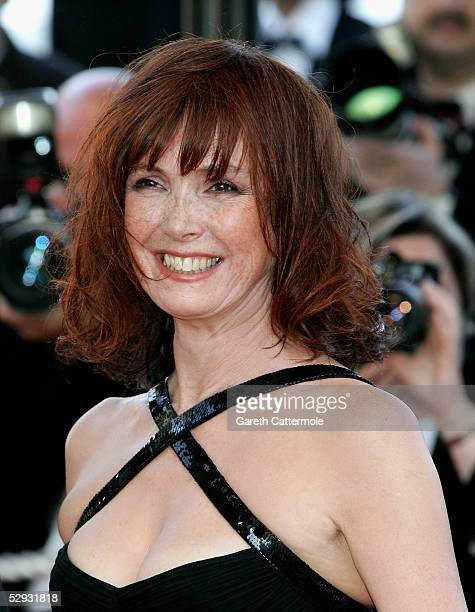 Actresses Sabine Azema attends the screening of Peindre Ou Faire L'Amour at the Palais during the 58th International Cannes Film Festival May 18 2005...
