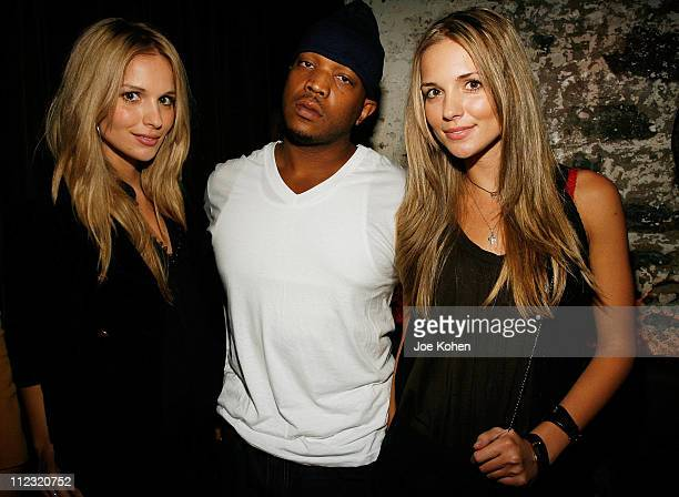 Actresses Sabrina and Kelly Aldridge with Recording Artist Styles P at the Steelo Snow Queen Vodka Halloween Costume Party at the D'or Hotel on...