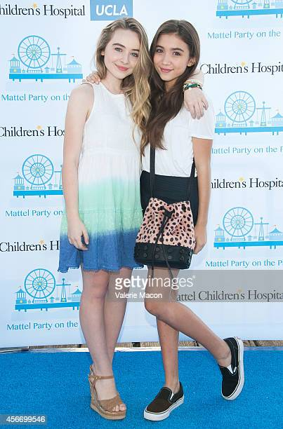 Actresses Sabrina Carpenter and Rowan Blanchard arrive at the 15th Annual Party On The Pier Hosted By Sarah Michelle Gellar at Santa Monica Pier on...