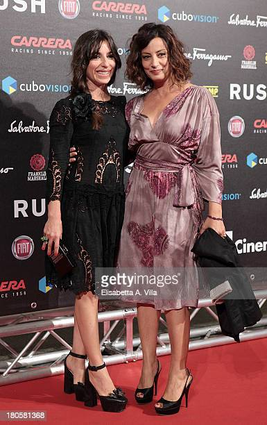 Actresses Sabrina Impacciatore and Alessia Barela attend the 'Rush' premiere at Auditorium della Conciliazione on September 14 2013 in Rome Italy
