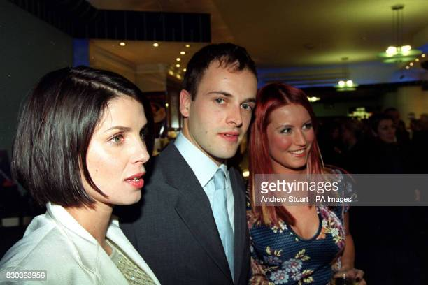 Actresses Sadie Frost and Denise van Outen who star in the film with actor Johnny Lee Miller arriving for the world premiere of 'Love Honour Obey' at...