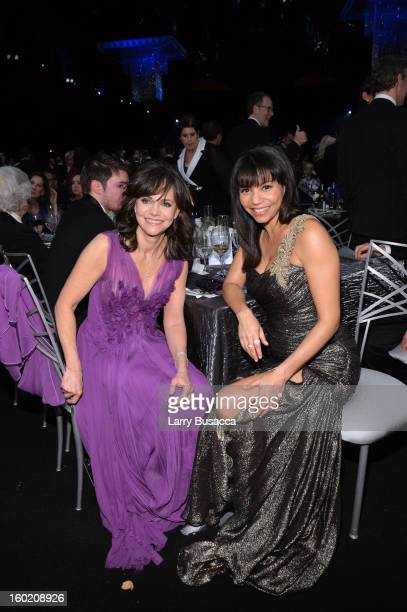 Actresses Sally Field and Gloria Reuben attend the 19th Annual Screen Actors Guild Awards at The Shrine Auditorium on January 27 2013 in Los Angeles...