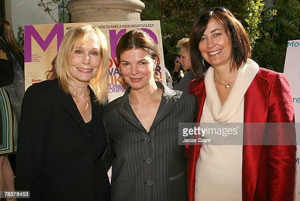 Actresses Sally Kellerman and Jeanne Tripplehorn with Jane Fleming at the More Magazine and Women In Film filmmaker luncheon at Chateau Marmont on...