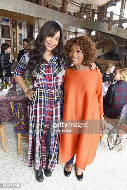 Actresses Sanaa Lathan and Alfre Woodard attend Lunch Celebrating Films Powered By Women Hosted By Glamour's Cindi Leive And Girlgaze's Amanda de...