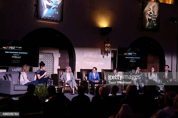 Actresses Saoirse Ronan, Sarah Silverman, Blythe Danner, THR's Scott Feinberg, actress Lily Tomlin, writer Ramin Bahrani and actors Olivia Wilde and...