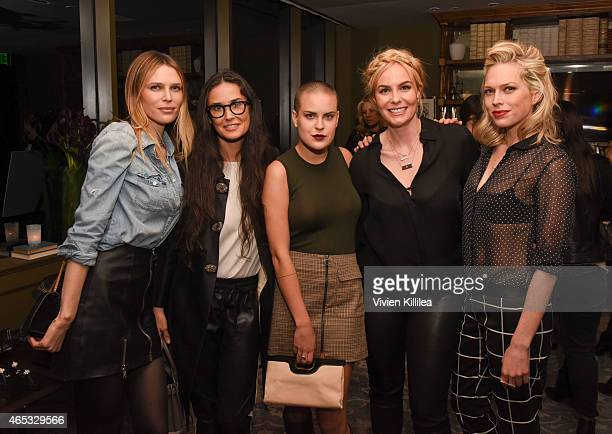 Actresses Sara Foster Demi Moore and Tallulah Belle Willis designer Nikki Erwin and actress Erin Foster attend the Established Jewelry By Nikki Erwin...