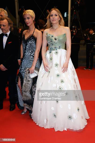 Actresses Sara Hjort Ditlevsen and Hadewych Minis attend the Premiere of 'Borgman' during The 66th Annual Cannes Film Festival at Palais des...