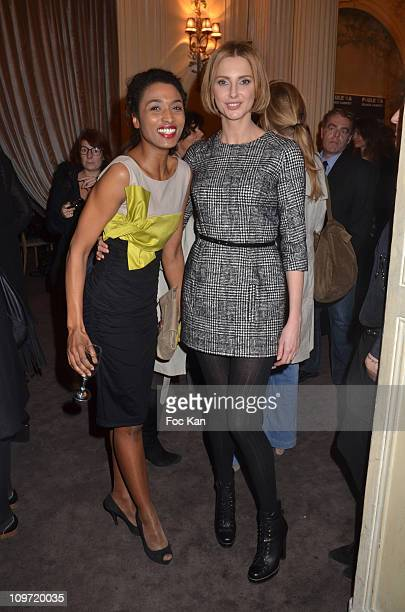 Actresses Sara Martins and Frederique Bel attend the Paule Ka Black Carpet Collection Presentation And Cocktail at Le Carmen on February 8 2011 in...
