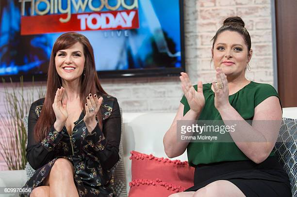 Actresses Sara Rue and Lauren Ash attend Hollywood Today Live at W Hollywood on September 23 2016 in Hollywood California