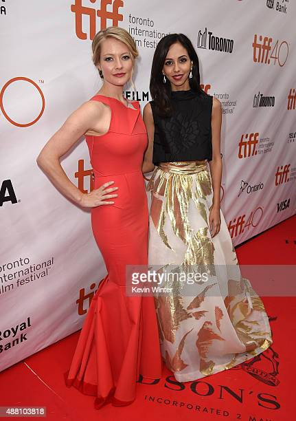 Actresses Sarah Allen and Gia Sandhu attend the Beeba Boys premiere during the 2015 Toronto International Film Festival at Roy Thomson Hall on...