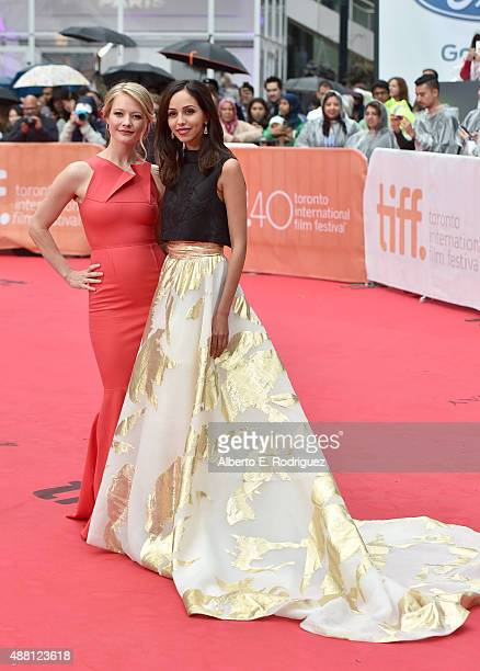 Actresses Sarah Allen and Gia Sandhu attend the 'Beeba Boys' premiere during the 2015 Toronto International Film Festival at Roy Thomson Hall on...