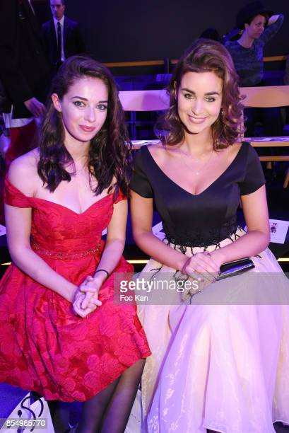 Actresses Sarah Barzyk and Elisa Bachir Bey attend the Christophe Guillarme Show as part of the Paris Fashion Week Womenswear Spring/Summer 2018 on...