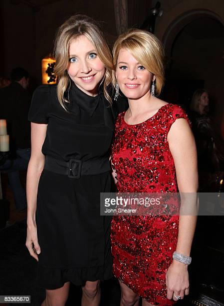 Actresses Sarah Chalke and Elizabeth Banks attend the after party for The Weinstein Co premiere of Zack Miri Make A Porno at the Roosevelt Hotel on...