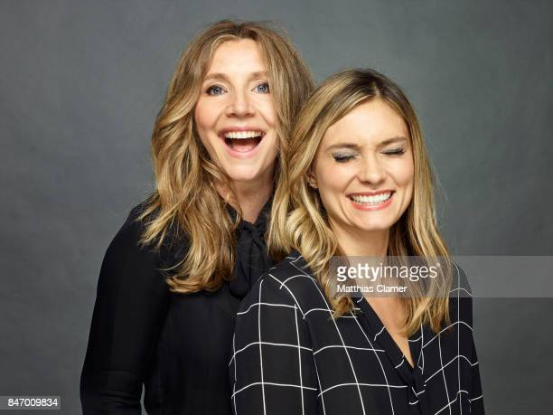 Actresses Sarah Chalke and Spencer Grammer from 'Rick and Morty' are photographed for Entertainment Weekly Magazine on July 22 2016 at Comic Con in...